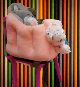 Scaun bebelusi portabil din plus - Inaltator scaun din plus pentru Bebe2