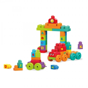 Set de contruit  100 de piese cuburi mari cu litere Mega Bloks Building1