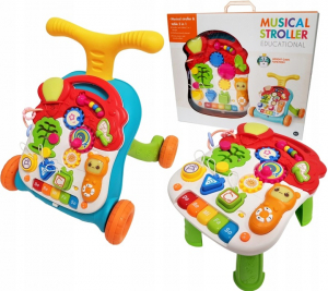 Antepremergator copii 3 in 1 Musical Stroller - Antepremergator multifunctional 3 in 1 educativ3