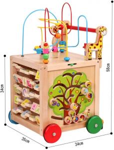 Antepremergator din Lemn Montessori 6 in 12