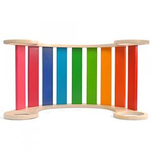 Balansoar din lemn montessori curcubeu Rainbow Rocker [1]