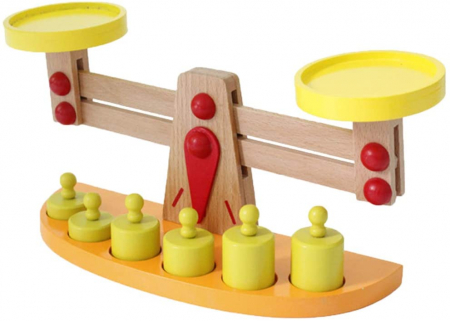 Balanta din Lemn Montessori Cantar cu 6 Greutatii [0]