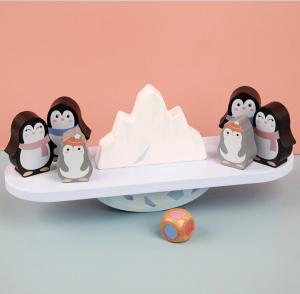 Joc din lemn echilibru Balanta Pinguin8