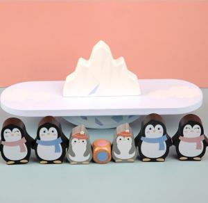Joc din lemn echilibru Balanta Pinguin9