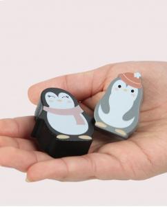 Joc din lemn echilibru Balanta Pinguin4