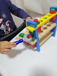 Banc de Scule din Lemn Copii cu Accesorii5