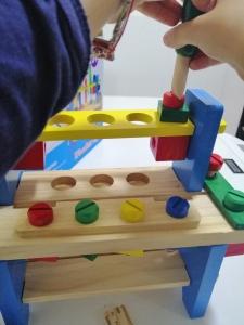 Banc de Scule din Lemn Copii cu Accesorii7