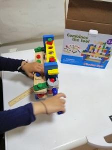 Banc de Scule din Lemn Copii cu Accesorii6