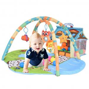 Saltea de Joaca Bebe 3 in 1 cu Bile - Saltea Bebe cu Tarc cu Bile2