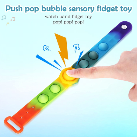 Bratara senzoriala Pop It Fidget din silicon [1]