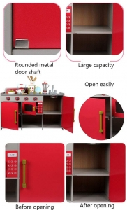 Bucatarie de Lemn copii Dubla European Kitchen cu Accesorii8