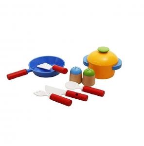 Bucatarie de jucarie din lemn pentru copii Colorata3