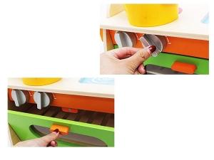 Bucatarie de jucarie din lemn pentru copii Colorata4