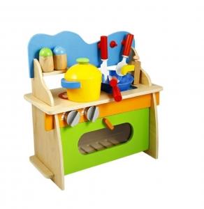 Bucatarie de jucarie din lemn pentru copii Colorata2
