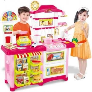 Fast Food Bucatarie de Jucarie - Bucatarie Copii Mare cu Accesorii1