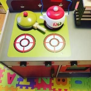 Bucatarie de Lemn copii Dubla European Kitchen cu Accesorii13