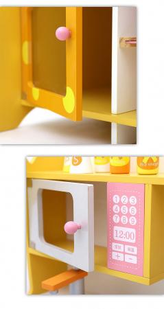 Bucatarie de lemn pentru copii cu accesorii Girafa5