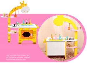 Bucatarie din Lemn Girafa cu accesorii pentru copii5