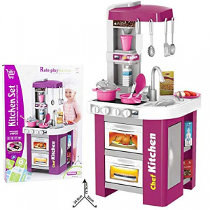 Bucatarie Copii Electronica Chef Kitchen 49 piese0