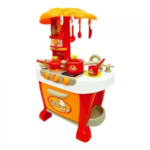 Bucatarie electronica Smart Little Chef copii  31 piese Roz [7]