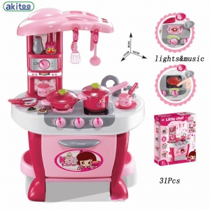 Bucatarie electronica Smart Little Chef copii  31 piese Roz [4]