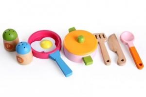 Bucatarie de jucarie din lemn pentru copii Colorata5