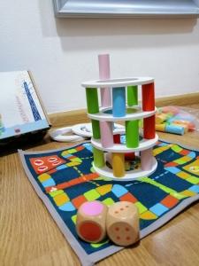 Joc din lemn Stivuire Turnul colorat Pisa Tower [1]