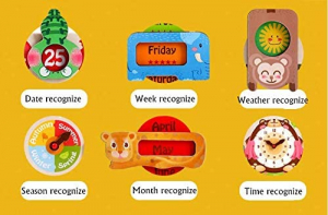 Calendar din Lemn Ursulet Onshine - Joc Educational Mare Calendar Onshine2