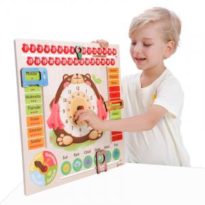Calendar din Lemn Ursulet Onshine - Joc Educational Mare Calendar Onshine1