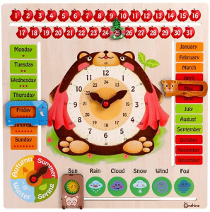 Calendar din Lemn Ursulet Onshine - Joc Educational Mare Calendar Onshine0