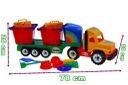 Camion mare cu accesorii pentru nisip -Camion cu accesorii nisip pentru copii1