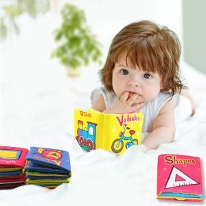 Set 6 Carti Bebelusi Senzoriale - Prima Mea Carte Material Textil1