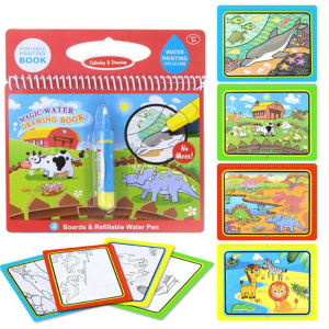 Carte de Colorat cu Apa - Cartea de Desen Magica cu Apa Reutilizabila0