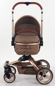 Carucior copii Transformabil 2 in 1 360' Baby Care Șasiu aluminiu2