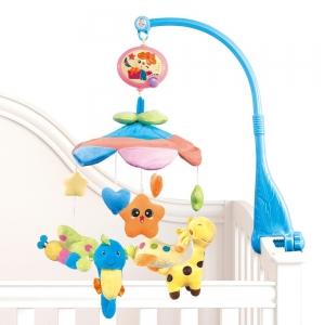 Carusel pentru copii musical mobile - jucarii din plus0