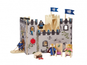 Castel din lemn copii Playtive Junior cu Cavalerii0