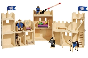 Castel din lemn copii Playtive Junior cu Cavalerii2