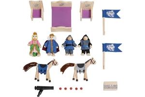 Castel din lemn copii Playtive Junior cu Cavalerii1