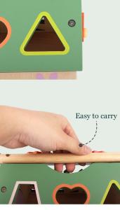 Joc educativ din lemn sortare forme geometrice Casuta inteligenta [6]