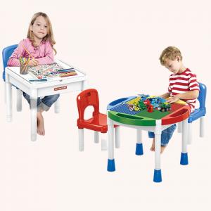 Masa Lego cu 2 Scaune 2 in 1 Compatibila cu Piesele Lego1