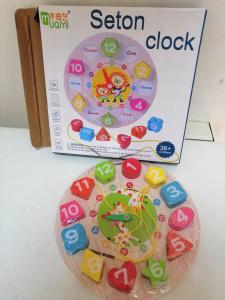 Ceas din lemn 2 in 1 pentru copii [9]