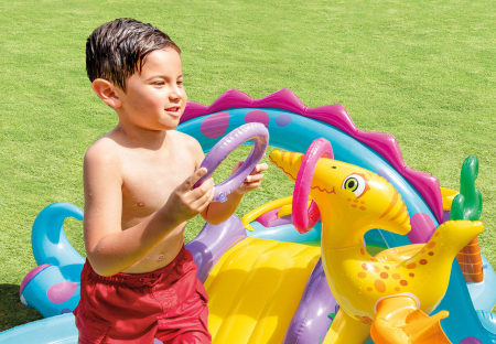 Centru de joaca gonflabil si piscina Intex  Dinoland [4]