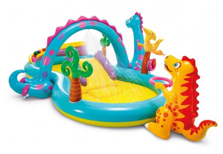 Centru de joaca gonflabil si piscina Intex  Dinoland [0]