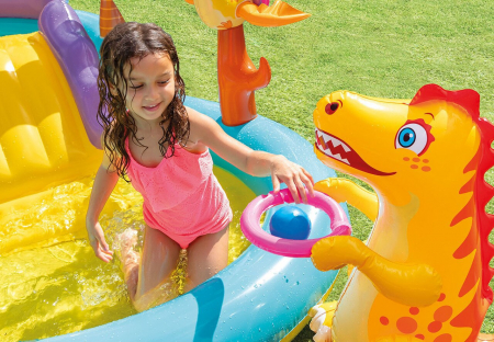 Centru de joaca gonflabil si piscina Intex  Dinoland [3]