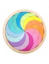 Joc din Lemn Tangram Cerc Curcubeu Spirala, Octogon1