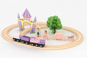 Circuit Tren din lemn Imaginarium Express Castel 25 piese0