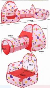 Cort de joaca cu tunel pentru copii 3 in 12