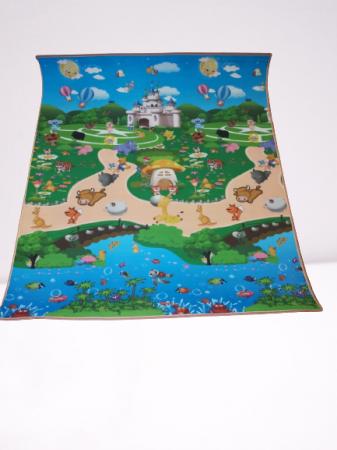 Covoras de Joaca cu 2 fete 150 x 180 cm - Covor Camera Copii0