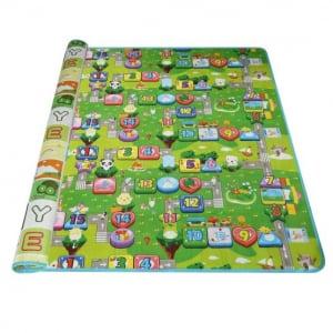Covoras de joaca cu 2 fete educativ impermeabil - Covor Copii de Joaca 180 cu 200 cm5