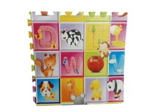 Covoras de Joaca Puzzle Mare Fructe si litere  - Litere si Animale4